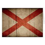 Rugged Alabama Flag Stationery Note Card