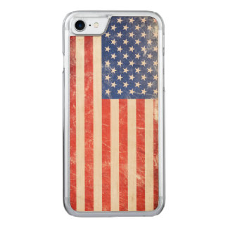 Rugged American Flag Carved iPhone 8/7 Case