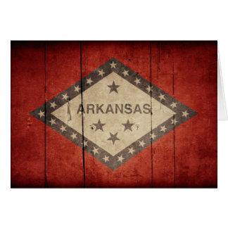 Rugged Arkansas Flag Note Card