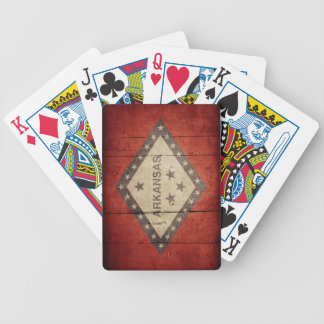 Rugged Arkansas Flag Deck Of Cards