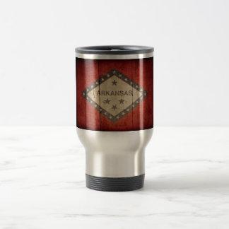 Rugged Arkansas Flag Stainless Steel Travel Mug