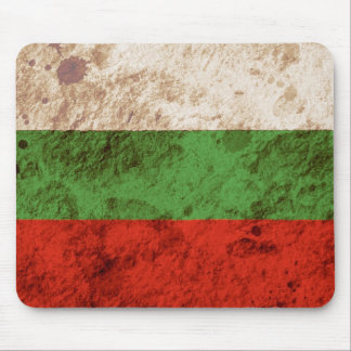 Rugged Bulgarian Flag Mouse Pad