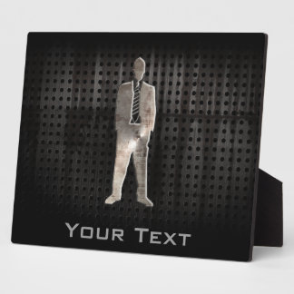 Rugged Business Suit Plaque