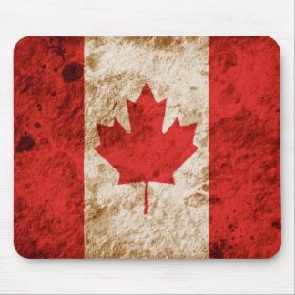 Rugged Canadian Flag Mouse Mat