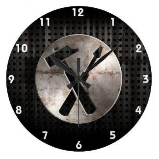 Rugged Carpenter Tools Large Clock