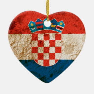 Rugged Croatian Flag Christmas Ornament