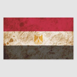 Rugged Egyptian Flag Rectangle Sticker