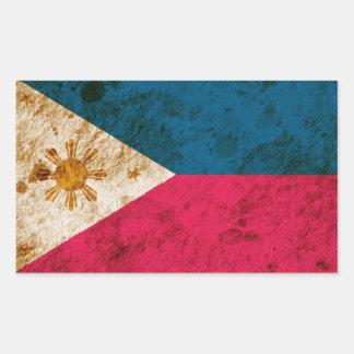 Rugged Filipino Flag Rectangular Sticker