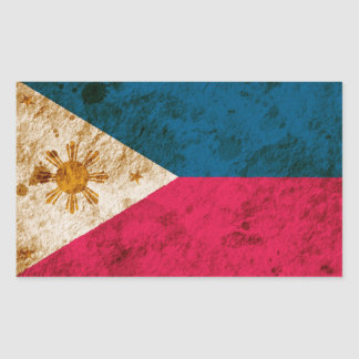 Rugged Filipino Flag Stickers