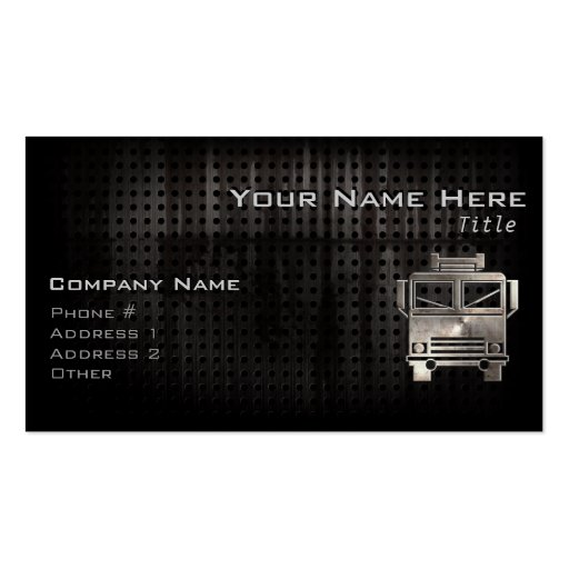 Create Your Own Truck Driver Business Cards - Page5