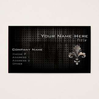 Rugged Fleur de lis Business Card