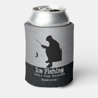 Rugged Funny Ice Fishing Can Cooler