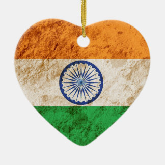 Rugged Indian Flag Christmas Ornament