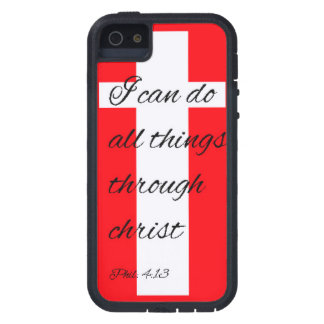 Rugged Iphone 4 4s 5 5s case bible verse christian