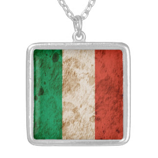 Rugged Italian Flag Personalized Necklace