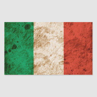 Rugged Italian Flag Rectangular Sticker