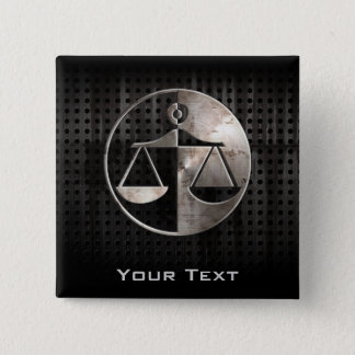 Rugged Justice Scales 15 Cm Square Badge