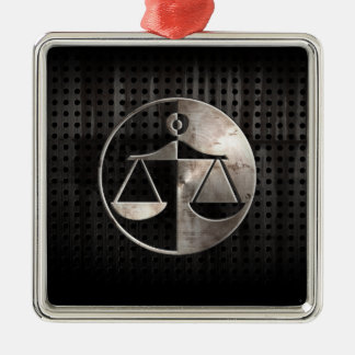 Rugged Justice Scales Christmas Ornament
