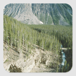 Rugged landscape in Banff National Park, Canada Square Sticker