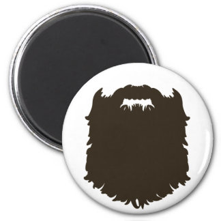 Rugged manly beard 6 cm round magnet