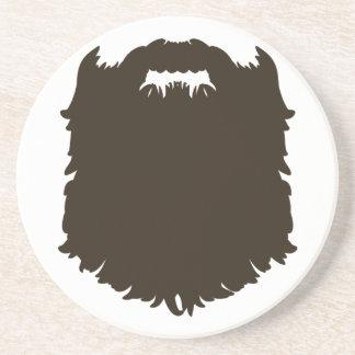 Rugged manly beard coaster