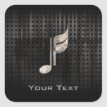 Rugged Music Note Square Sticker