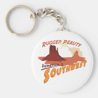 Rugged Peauty Basic Round Button Keychain
