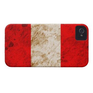 Rugged Peruvian Flag iPhone 4 Case
