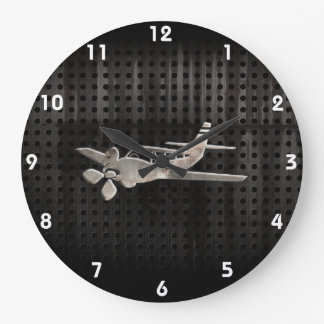 Rugged Plane Large Clock