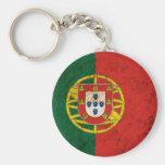 Rugged Portuguese Flag Keychain