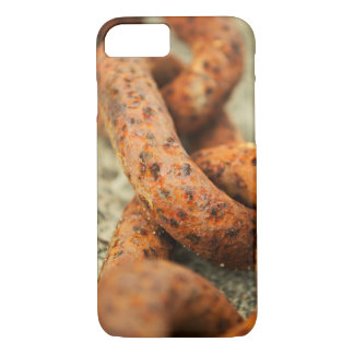 rugged rust orange metal chain iPhone 8/7 case