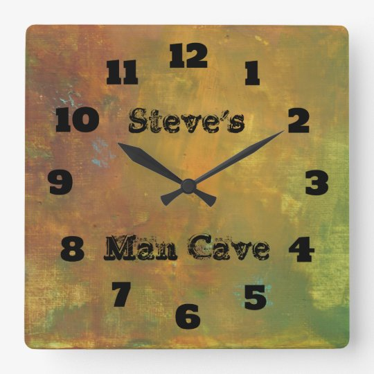 Rugged Rustic Earthy Tones Abstract Man Cave Square