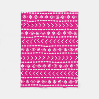 Rugged Snow blanket - hot pink