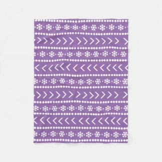 Rugged Snow blanket - purple