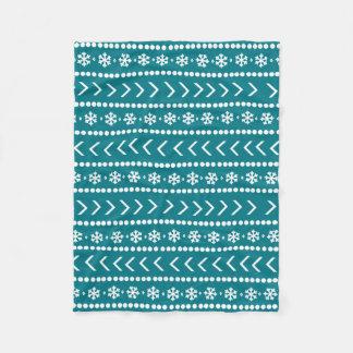 Rugged Snow blanket - teal