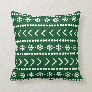 Rugged Snow pillow - forest green