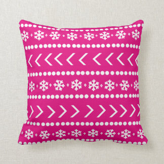 Rugged Snow pillow - hot pink