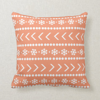 Rugged Snow pillow - orange