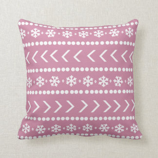 Rugged Snow pillow - pink
