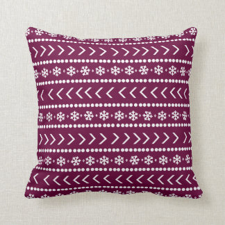 Rugged Snow pillow - raspberry