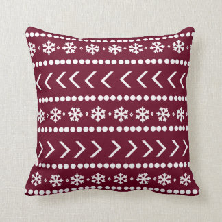 Rugged Snow pillow - red