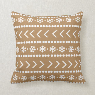 Rugged Snow pillow - tan