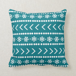 Rugged Snow pillow - teal