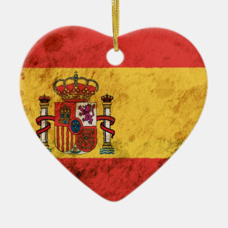 Rugged Spanish Flag Christmas Ornament