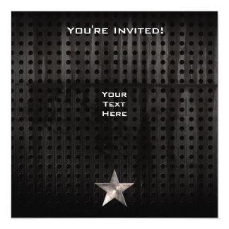 Rugged Star 13 Cm X 13 Cm Square Invitation Card