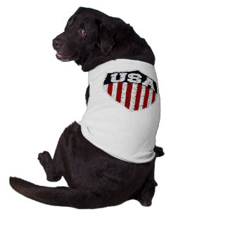 Rugged USA Supporters Shield Sleeveless Dog Shirt