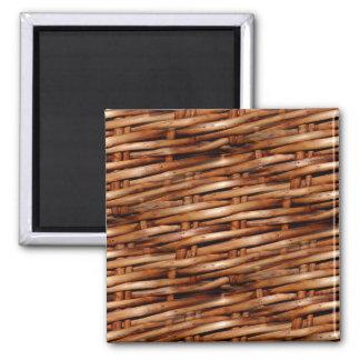 Rugged Wicker Basket Look Magnets