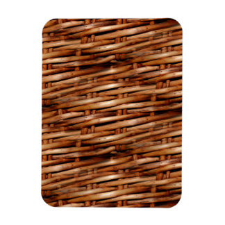 Rugged Wicker Basket Look Rectangular Photo Magnet