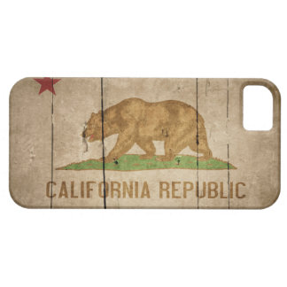 Rugged Wood California Flag Case For The iPhone 5
