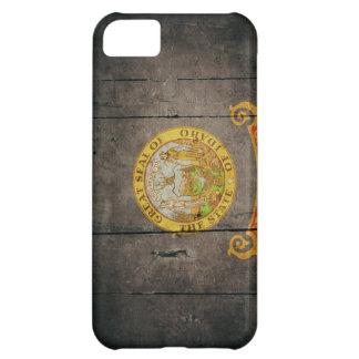 Rugged Wood Idaho Flag iPhone 5C Cases